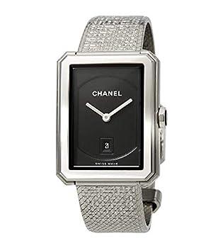 Chanel Boyfriend Black Guilloche Dial Ladies Watch H4878