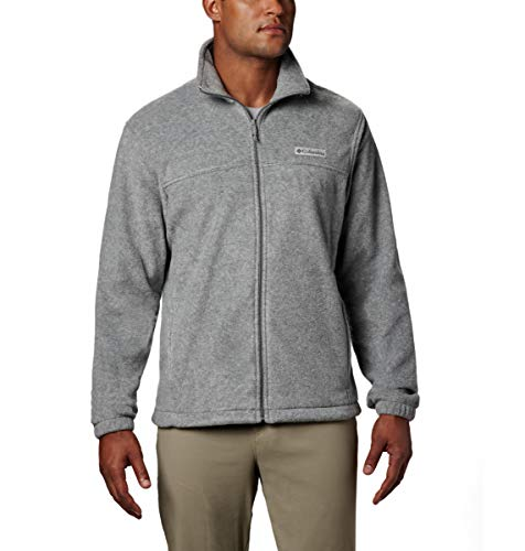 Columbia Men's Steens Mountain 2.0 Full Zip Fleece Jacket, Light Grey Heather, Medium