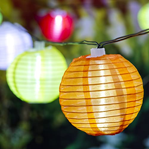 Cadena de luces LED solares multicolor para fiestas y exteriores