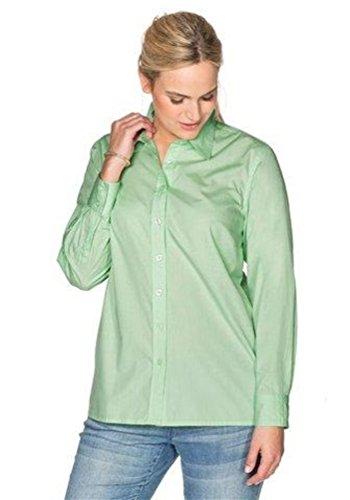 Sheego Damen 1/1-Arm Bluse, Grün (apfelgrün), 44 (Herstellergröße: 44/46)