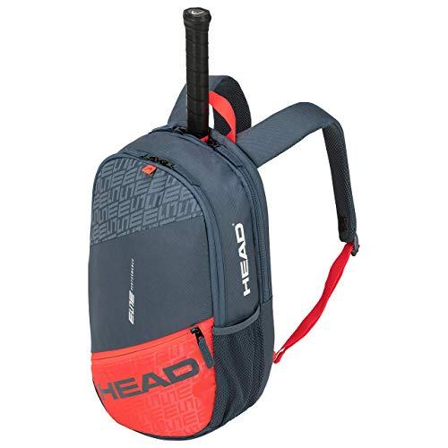 HEAD Unisex-Erwachsene Elite Backpack Tennistasche, grau/orange, Einheitsgröße