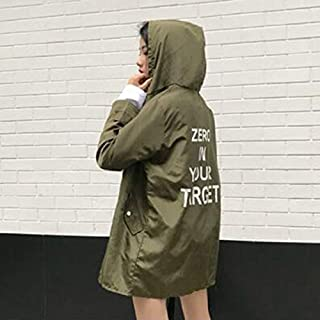 70b19a8047c0e HoganeyVan 2019 Newest Korean Fashion Women Spring Autumn Loose Type Jacket  Outwear Letter Printed Long Style