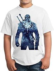 The Witcher Background Unisex Kids T-Shirt Children's Camiseta