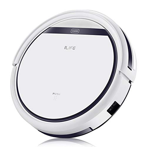 ILIFE V3s Pro Robotic Vacuum Pet Hair Care, Powerful Suction Tangle-free, Slim Design, Auto Charge, Daily Planning, Good For Hard Floor and Low Pile Carpet (Renewed)