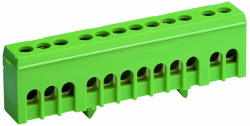 Schutzleiterklemme grün  12-polig x16