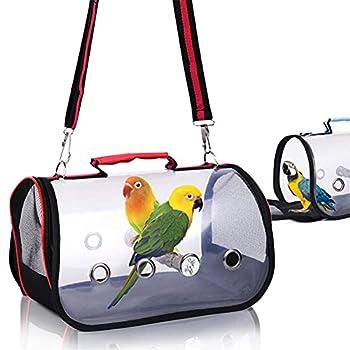 Sac de transport pour perroquet - Portable - Léger - Housse transparente - Facile à nettoyer - Pour l'extérieur et les voyages - Petite taille