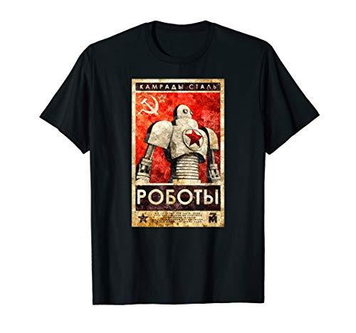 Roboter Sowjetunion UdSSR Retro Propaganda T-Shirt Vintage T-Shirt