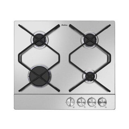 Amica 20993 kookplaat (gas/inbouw) / 4 kookplaten / 52,0 cm/pannendragerroosters gietijzeren ijzer; platte brander