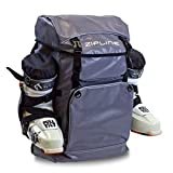 Zipline World Cup Ski Boot Bag Backpack – Waterproof Skiing and Snowboarding Travel Luggage – Stores Gear Including Jacket, Helmet, Goggles, Gloves & Accessories - 2019 Model (Gray)