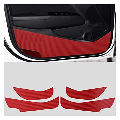 FZHENG 4 unids Anti-Kick Fit Fit para la Puerta Lateral Cojín de Fibra de Carbono Pegatina Interior de la Etiqueta engomada del automóvil Ajuste para Hyundai Elantra Avante 2016-2018 C1756
