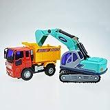 ZXHFDC Simulierter Trägheitskipper 360-Grad-Drehbagger Kindersimulation Spielzeugauto Minibagger...