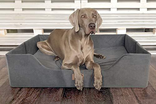 tierlando® Columbus Orthopädisches Hundebett | Reisehundebett | Urlaub mit Hund: Größe: COL3 (80 x 60 x 25 cm) | Farbe: 02 Graphit