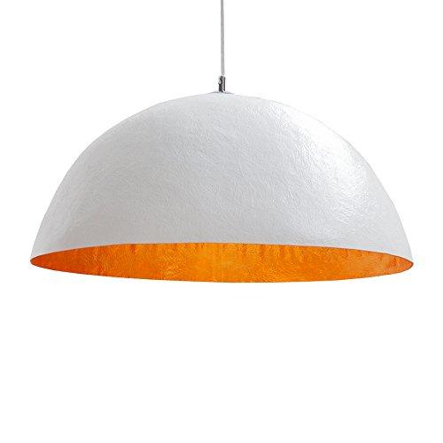 Design Hängeleuchte GLOW weiss gold 50cm Pendelleuchte Lampe Hängelampe