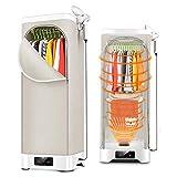 MYRCLMY Trockner Schrank Steamer 3 in 1 Bügelsysteme, High Capacity Elektrische Energieeinsparung Schnellwäscheständer Für Wohnungen -51X51x145cm Double Layer Trocknen Von Kleidung Trocknen