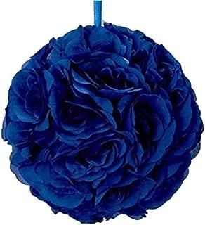 10 Inch Royal Blue Rose Kissing Flower Rose Ball