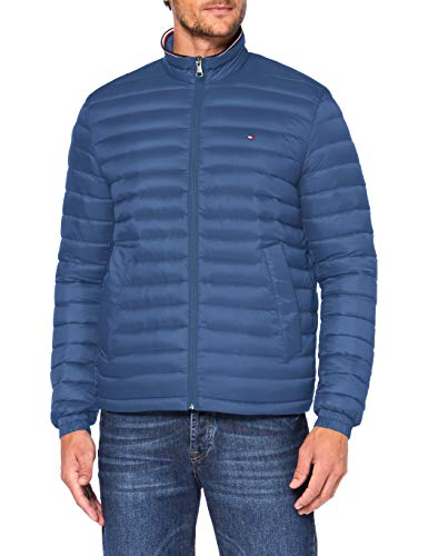 Tommy Hilfiger Packable Down Jacket Chaqueta, Iron Blue, XS para Hombre
