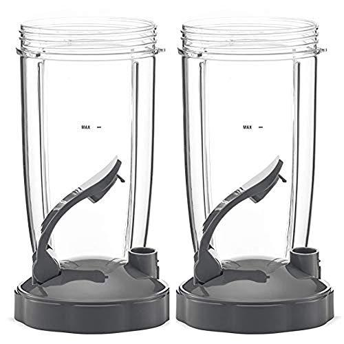 LGYKUMEG 24 Unzen Tasse mit klappbarem Oberdeckel (VE 2) mit klappbarem Oberdeckel für Ersatzteile NutriBullet 600W / 900W Mixer Entsafter,24 oz