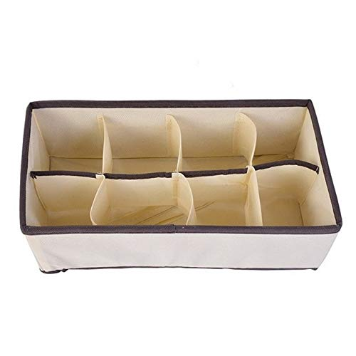 Schlafsaal Schrank Organizer für Socken nach Hause getrennte Unterwäsche Aufbewahrungsbox 7 Gitter BH Organizer Faltbare Schublade Organizer - Style2-8grids