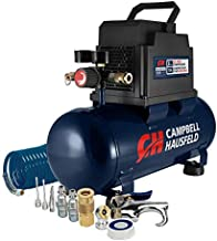 Campbell Hausfeld 3 gallon Air Compressor with Inflation Kit & Air Hose, 3 Gallon Portable w/Accessory Kit (DC030098)