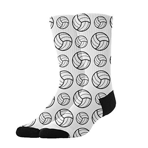 Jinkela - Calcetines para Mujer con diseño de Voleibol