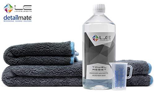 Detailmate Set - Liquid Elements: microvezel droogdoek 40x40cm, Liquid Elements Silverback XL droogdoek 80x50cm, Liquid Elements-handdoek - microvezel wasmiddel 1L, maatbeker 50 ml