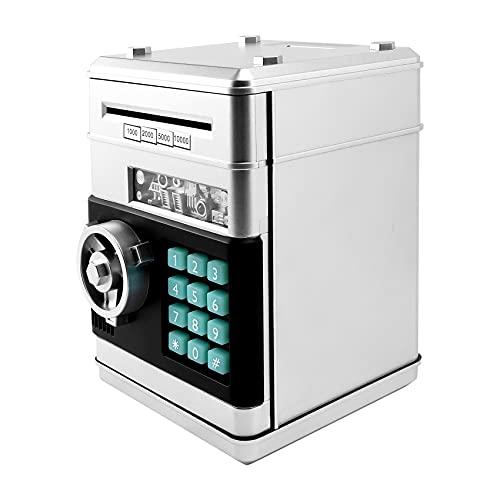 SNOWINSPRING - Hucha de código ATM electrónica de animación de plata líquida que se puede rodar automáticamente, billar...