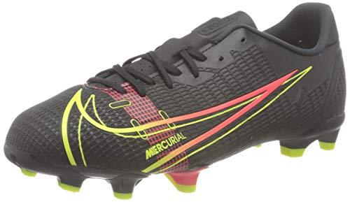 Nike Jr Vapor 14 Academy FG/MG Football Shoe, Black/Cyber-Off Noir-Rage Green-Black, 34 EU