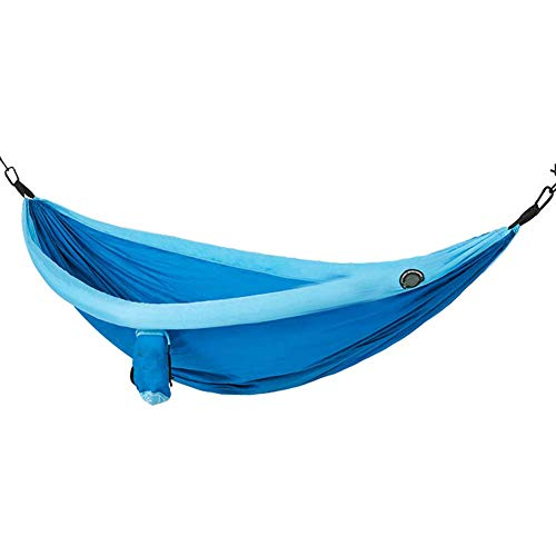 WYJBD Lightweight Large Size Blue Inflatable Camping Hammock, With Tree Straps For 2 Person, 210T Nylon Material, 68.1 * 94.5 In, Sturdy Stable Durable, For Camping Trip Hiking Beach