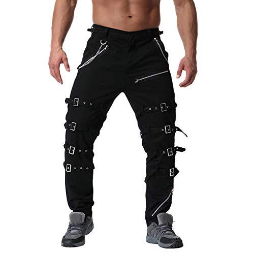 Malloom-Bekleidung Malloom Herren Jeans Hose Pocket locker lässige Jeans Stretch Jogger Sporthose Vintage Baumwolle Multi Reißverschluss Cargo Lange Hosen