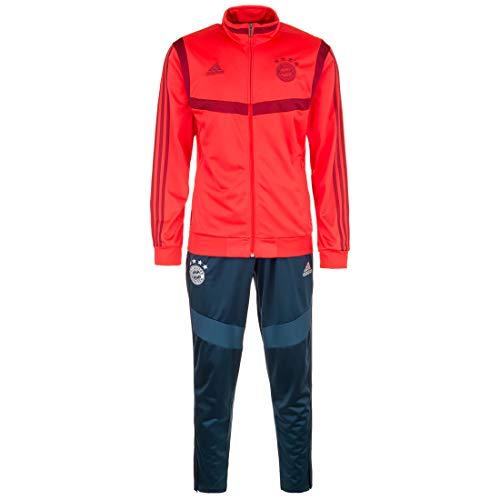adidas Herren FCB PES Suit Trainingsanzug, rot/braun, S