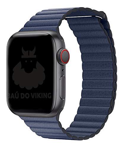 Pulseira Couro Loop, compatível com Apple Watch (Azul, 42mm)