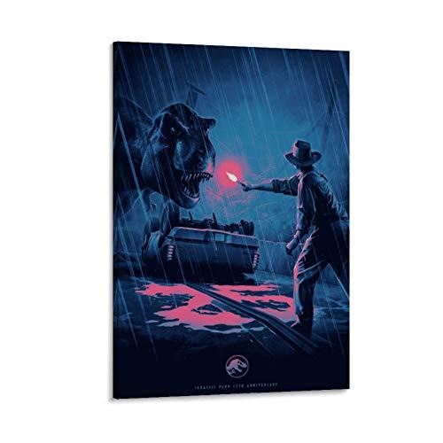 NENBN Póster, cuadro decorativo de Jurassic Park, 25, lienzo para pared, para sala de estar, dormitorio, 60 x 90 cm