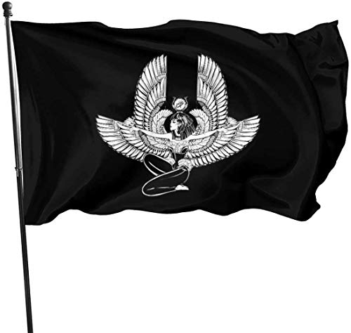 dfgjfgjdfj Flaggen ISIS Goddess Home Garden Flag for Outdoor House Porch Welcome Holiday Decoration, Fit Chritmas/Birthday/Happy New, 3x5ft