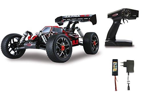 JAMARA 059730 - Ultra BL8 Buggy 1:8 4WD Lipo 2,4GHz - Allrad, Brushless Motor, 60A Regler, spritzwasserfest, 60 KM/h, Öldruckstoßdämpfer, Fahrwerk einstellbar, Antriebswelle aus Stahl, fahrfertig