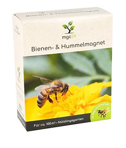 mgc24® Bienen- und Hummelmagnet - Blumenmischung für Bienen und Hummeln ein- & mehrjährig 100g für 100m²