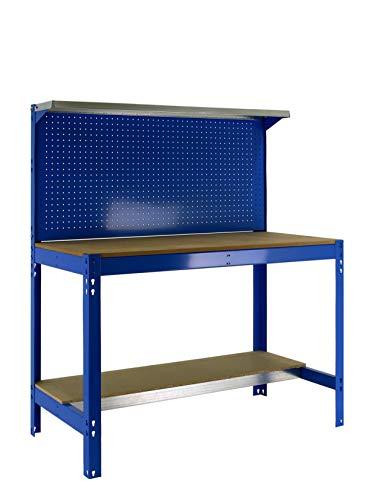SIMONRACK 8435104946824 - Banco da lavoro, colore: blu/legno, 1445 x 910 x 610