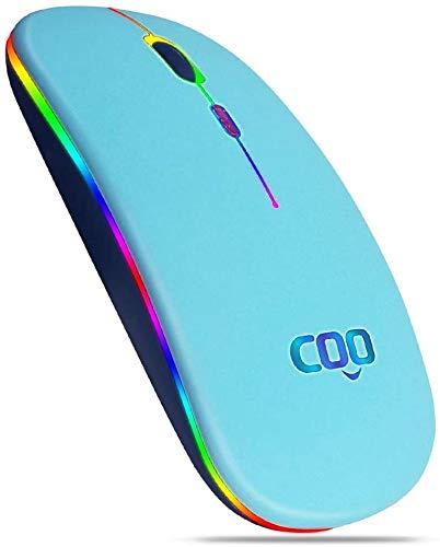 COO UK Bluetooth Wireless Maus, Dual-Mode-Wireless-Maus (Bluetooth 5.1 und 2.4G Wireless) mit 3 einstellbaren DPI-Werten, geeignet für Mac,Laptop,Android 5.0, Windows 8 oder höher