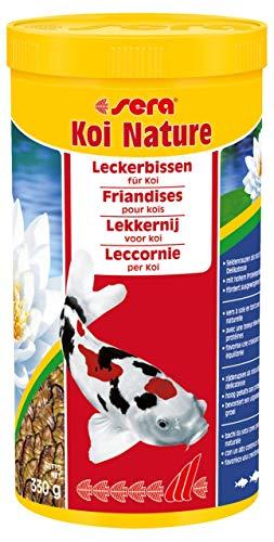 sera 07145 KOI Nature 1000 ml der natürliche Leckerbissen aus 100% schonend getrockneten Seidenraupen als Koifutter bzw. Power Snack mit hohem Proteinanteil für Koi in der warmen Jahreszeit (ab 15°C)