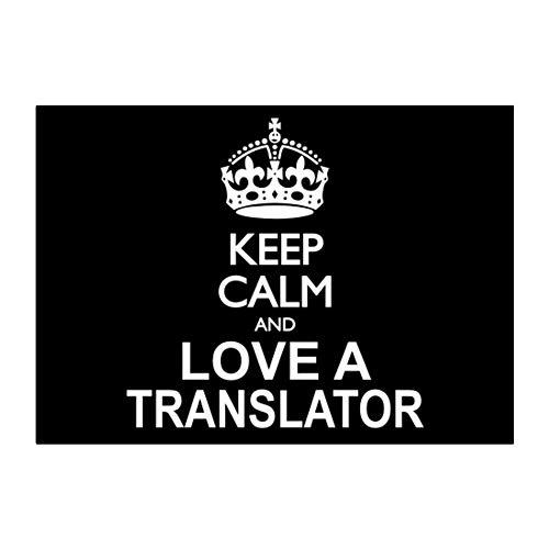 Teeburon Keep Calm and Love a Translator Sticker Pack x4 6'x4'