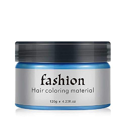 NIUHAIQING Haarfarbe Wachsfarbstoff Einmalige Formpaste Sieben Farben Erhältlich BLAU Burgund Oma Grau Grün Haarfärbemittel Wachs Blau