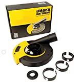 QuickT GDS701K Universal Surface Grinding Angle Grinder Dust Shroud 5 Inch - Dust Cover Collector with Vacuum Attachment for Angle Hand Grinders