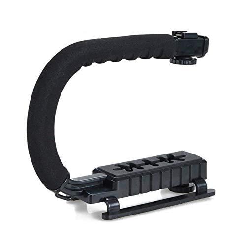Accesorios de fotografía T / C Se monta abrazadera en forma de soporte 3 del zapato Manipular electrónico de bolsillo Acción Estabilizador de agarre for la cámara réflex digital de teléfono Para trans
