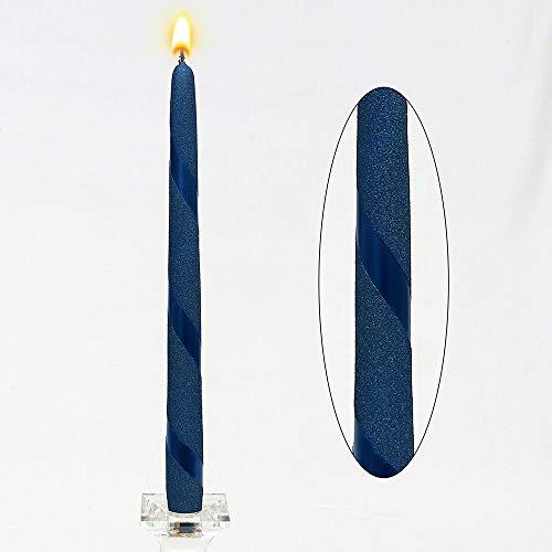 Unbekannt Candelabro Vela Azul Metallic Espiral 23x 23x 30cm