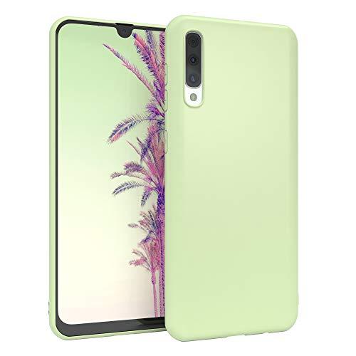 EAZY CASE Handyhülle Silikon mit Kameraschutz kompatibel mit Samsung Galaxy A50 / A30s / A50s in Pastell Grün, Ultra dünn, Slimcover, Silikonhülle, Hülle, Softcase, Backcover