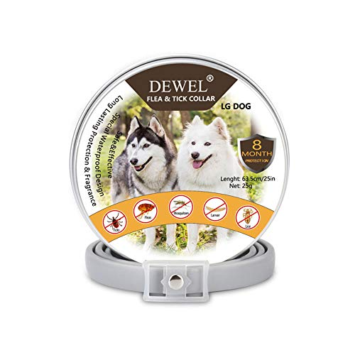 DEWEL Collar Antiparasitos Perro Impermeable/Ajustable - 63cm