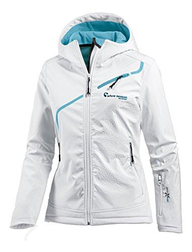 White Season Damen Softshelljacke Jacken, Weiß, 36