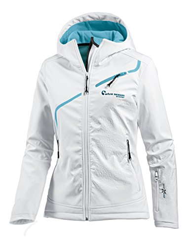 White Season Damen Softshelljacke Jacken, Weiß, 36
