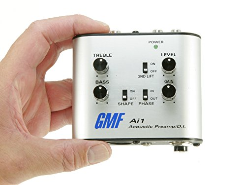 GMF Ai1 Acoustic Preamp and D.I. - Direct Box For Guitar and Other Acoustic Instruments - 3in1 Analog DI Box, Direct To Amp Preamp and EQ, Headphone Amp