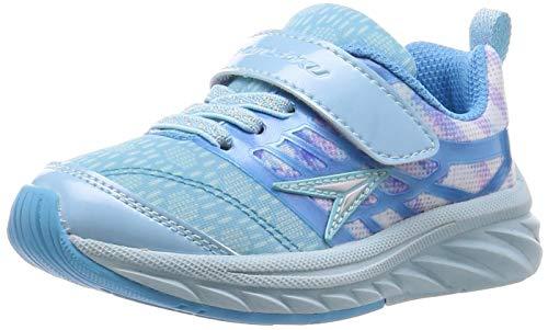 [シュンソク] スニーカー 運動靴 幅広 軽量 15~24.5cm 3E キッズ 女の子 LEJ 6370 サックス 21 cm