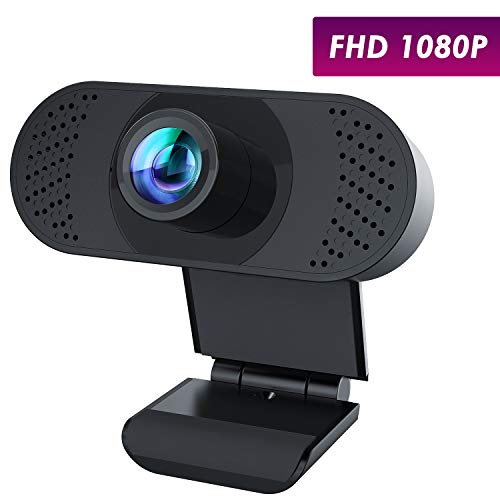 usogood Webcam Full HD 1080P Fuoco Manuale Videocamera, PC Portatile Computer Desktop Webcam con Microfono per Video Chat e Registrazione